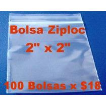 Bolsa Ziploc De 2 X 2 Pulgadas (100 Bolsas)