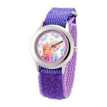 Disney Congelado Anna Y Elsa Tiempo Reloj Maestro De Acero I