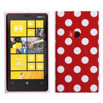 Funda Protector Rojo Puntos Blancos Nokia Lumia 920