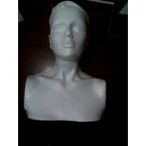 Busto De Unicel Con Razgos, Exhibidor, Maniquí, Escuela