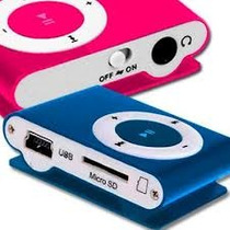 Reproductor Mp3 Shuffle Incluye Memoria Micro Sd 8gb Unico