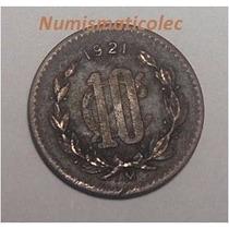 Moneda 10 Centavos 1921 Mo