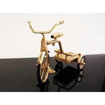 Triciclo Decorativo Miniatura De Coleccion Desarmable.