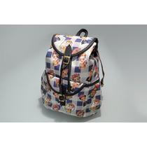Mochila Juvenil Para Dama Estilo Bagpack Diseños Divertidos