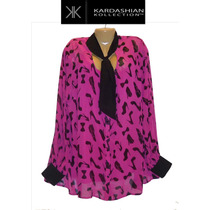 Blusa Top Xxxl 3x Grande Rosa Kardashian Collection 24w Ve!!