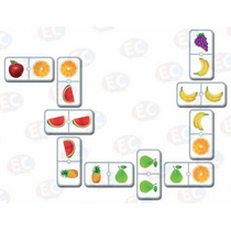 Edu-114 Dominó Jr De Frutas Educativo 28 Piezas 6+ Eduplas