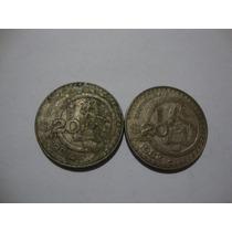 Monedas De 20 Pesos 1981 Y 1982 Oferta Remate