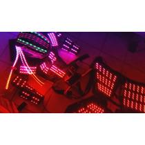 Traje De Leds Iluminado, Robot Con Efectos Laser