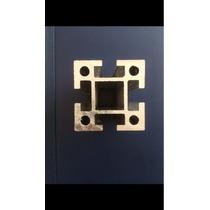 Perfil De Aluminio Ranurado De 50x50mm