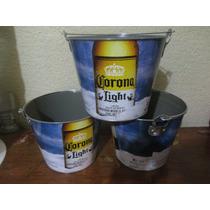 Cubeta Cerveza Corona De Coleccion. Nueva Con Destapador