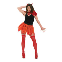 Diablo Disfraz Adultas - Tutu Set Red Ladies