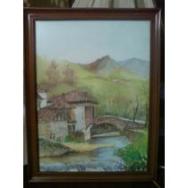 Preciosa Pintura Paisajista. Firmada María Luisa