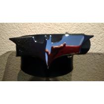 Cinturon Negro Con Hebilla De Batman Metalica