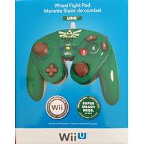 Wired Fight Pad Link Zelda Nintendo Wii U Nuevo Sellado