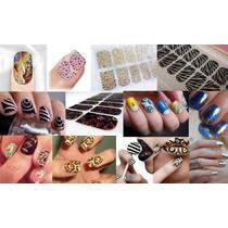1 Kit Manicure Calcomania Decoracion Esmalte Uña Sticker Au1