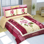 Cobertor Matrimonial Providencia Rosas Reverso Borrega