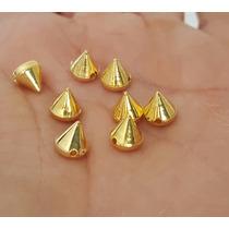 Remache Para Coser De Pico 6mm Plastico Color Oro