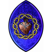 Lienzo Tela Sagrado Corazón De Jesús 74 X 50 Cm Arte Sacro