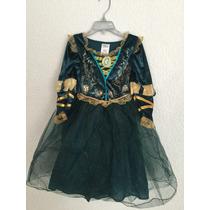 Vestido Mérida De Valiente Talla 4 Disney Store Original