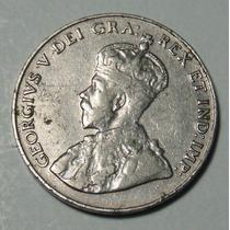 Moneda De 5 Centavos Canada 1931