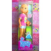 Muneca Nancy Y Su Gatito Bebe De 45cms
