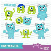 Kit Imprimible Monsters University 2 Imagenes Clipart