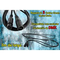Steelpro Kit De 5 Cables Xlr Canon Dmx De 3mts De Uso Rudo.