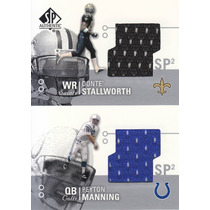 2002 Sp 2x Jersey Peyton Manning Rookie Donte Stallworth Sp