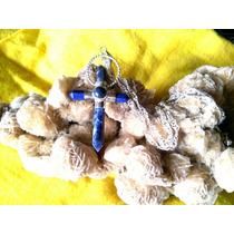 Cruz En Lápiz Lazuli Montado En Alpaca