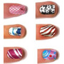 #1 Calcomania Decoración Esmalte Sticker Uña 3d Manicure Lbf
