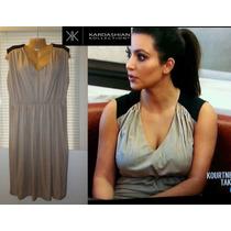 Vestido Kardashian Xxl 2x 22w Beige Negro Stretch Hermoso Ve