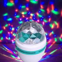 Foco Giratorio Tipo Disco Entrada Normal E27 De Colores