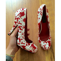 Hermosos Zapatos Tacones Spirit Prainted 24 100% Originales!