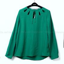 Blusa Verde O Blanca De Moda Talla Mediana
