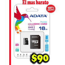 Clase10 Micro Sd 16gb Adata Uhsipremiercard El Mas Barato$90