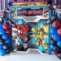 Poster P/ Decoracion Fiesta De Transformers 2x2 Mtrs