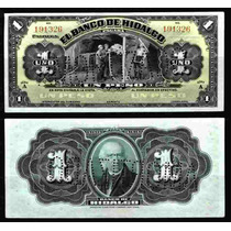 Bk-hid-2 Billete Del Banco De Hidalgo De 1 Peso