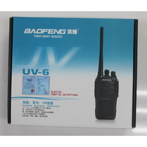 Portátil Dual Bander Vhf / Uhf Baofeng Uv-6 Uso Comercial