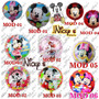 20 Globos Mickey Y Minnie Mouse De 18 Pulgadas O 45cm*45cm