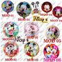 10 Globos Mickey Y Minnie Mouse De 18 Pulgadas O 45cm*45cm