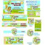 Invitaciones De Baby Shower Kit De Etiquetas Arca De Noe