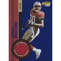 2001 Invincible Blue Jersey Jerry Rice 248/250 Wr 49ers