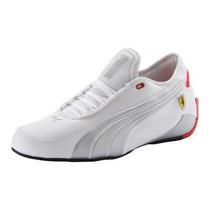 Tenis Puma Alekto Trainers Choclo Ferrari Blanco Plata Vv4