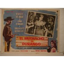 Rodolfo De Anda , El Muchacho De Durango , Cartel De Cine