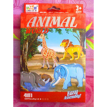 Set De Animales De Selva Armables
