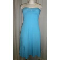Vestido T.30, Azul, Strech, Strapless, Heart