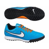 Tenis Nike Tiempo Azules-naranjas Turf Legend 2014 Original