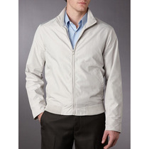 Chamarra Perry Ellis Color Gris Claro Super Padre Mdn