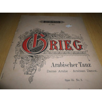 Vendo Partitura Grieg Danza Arabe Op 55 N 2 Para Piano Solo