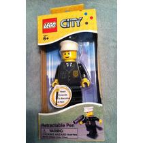 Policia Pluma Retractil Lego City Figura De Policia 12 Cm